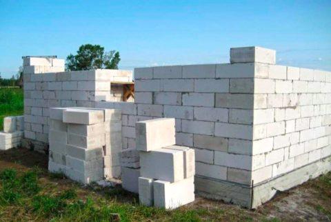 Скорость строительства при использовании блочных изделий