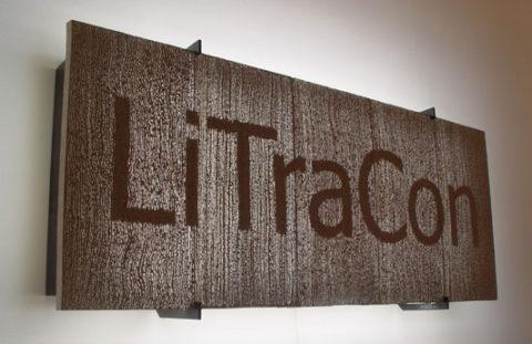 Технология Литракон позволяет создавать в блоках различные рисунки, в том числе изображение торговых марок