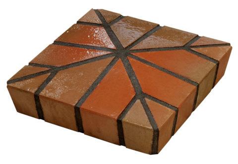 Цельнолитая бетонная крышка для кирпичного столба