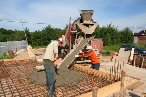 Укладка бетона в жаркую погоду