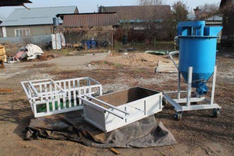 Установка мобильная для изготовления газобетона