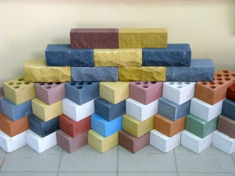 Виды цветного силикатного кирпича ассортимент