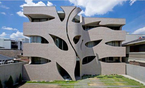 Вилла из бетона в Японии