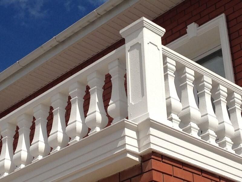 Ограждение балкона из стеклофибробетона, фото