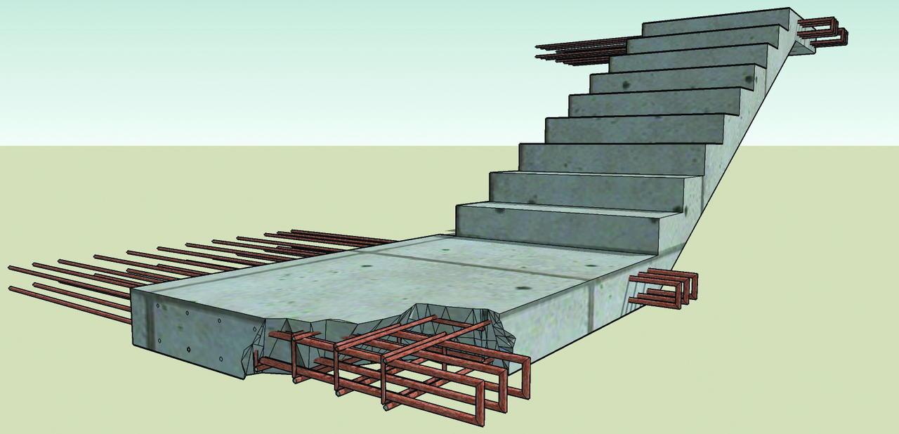 Монолитные лестничные ступени плита дорожная напряженная ту