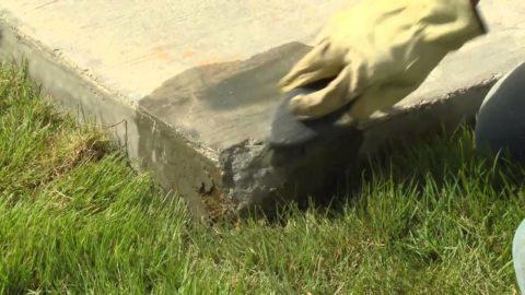 Дефект кромки бетонной дорожки