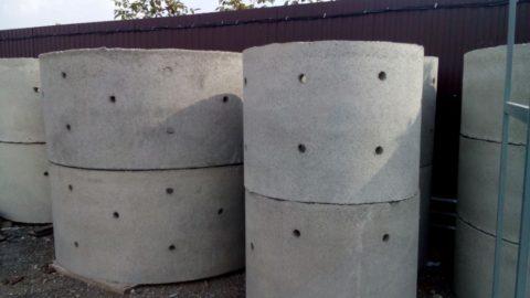 Дренажные кольца бетонные с отверстиями