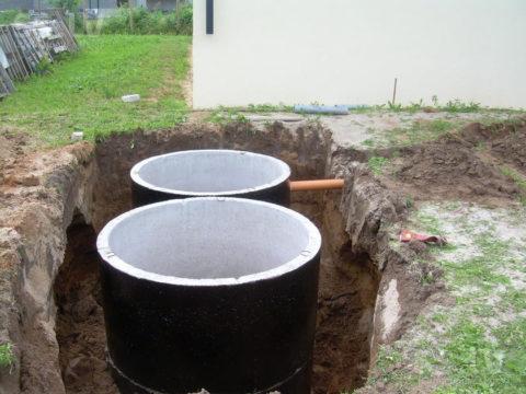 Емкости для канализации бетонные