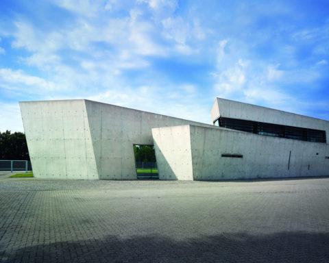 Фасад павильона для конференций и заседаний компании «Vitra» в Вайле-на-Рейне
