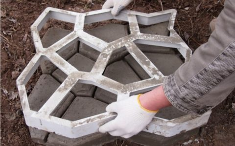 """Форма для бетонной плитки """"9 камней"""""""