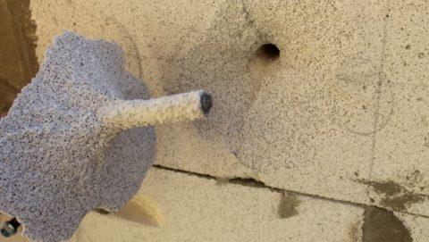Химический анкер для газобетона после вырывания
