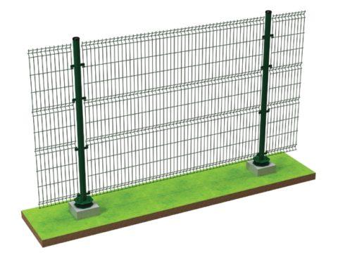 Используя бетонные подставки можно устроить временное заграждение