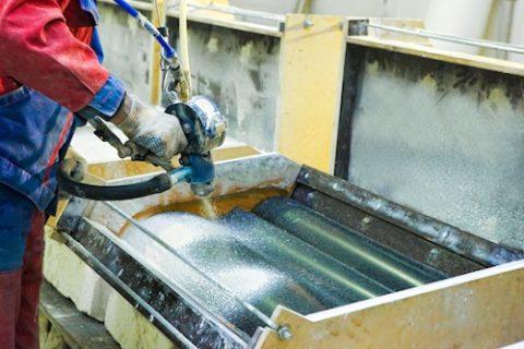 Изготовление панели технологией пневмонабрызг