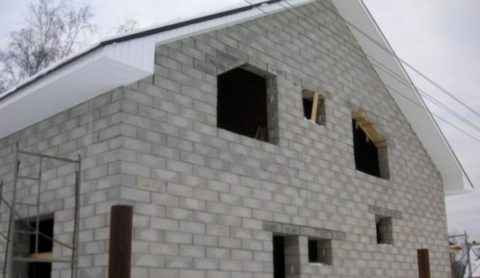Коробка дома из блоков