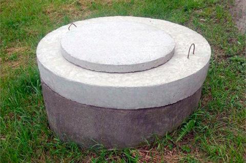 Люк канализационный бетонный