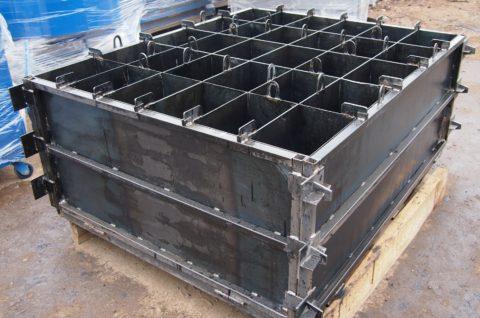 Металлическая форма для изготовления пенобетонных блоков