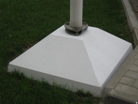 Монтаж бетонной подставки процесс несложный