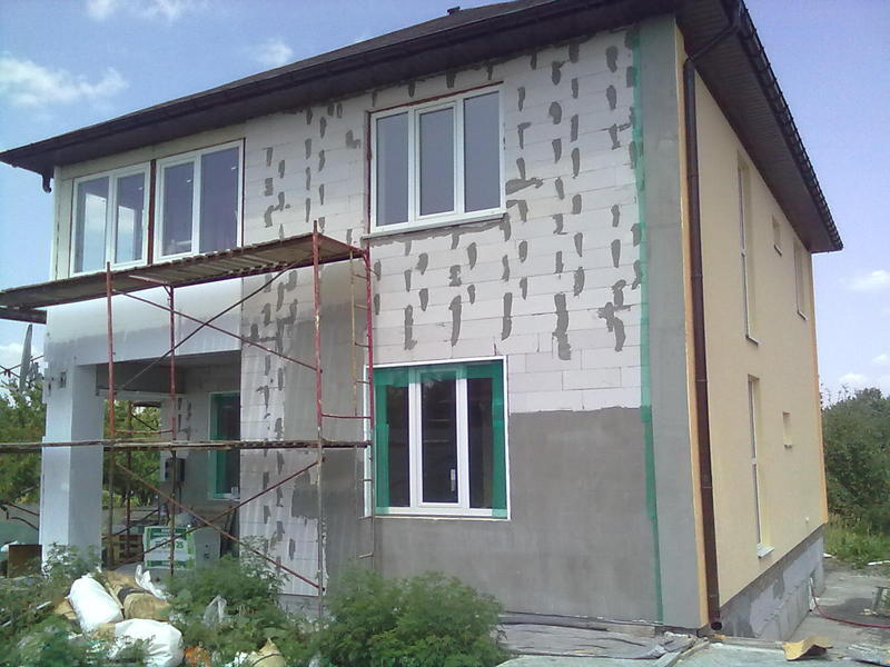 Окраска фасадов с лесов кремнийорганической