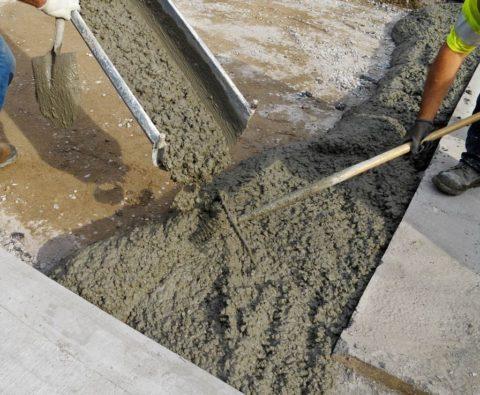 Однородная бетонная смесь