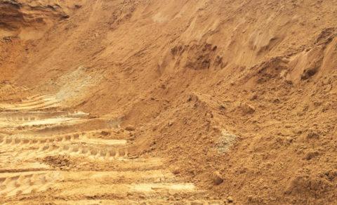 Песок тоже обычный