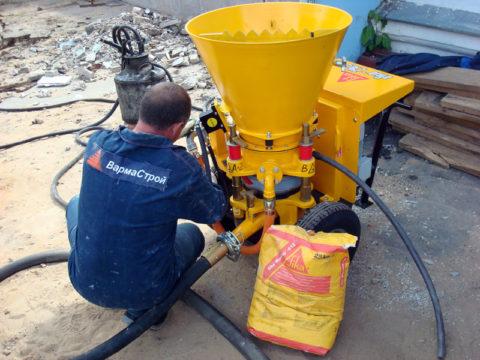 Приготовление торкрет бетона своими руками