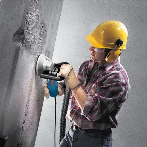 Ремонт бетонной стены