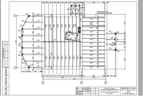 Схема перекрытий цоколя (пола первого этажа)