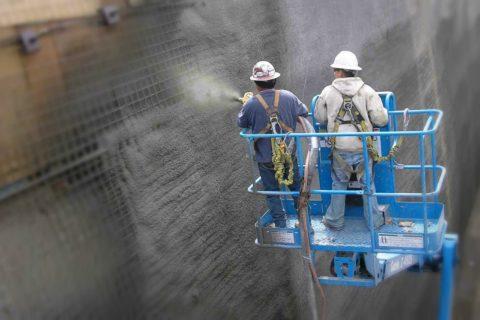 Технология нанесения бетона методом торкретирования