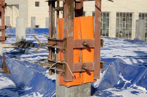 Термоактивный щит для прогрева бетона