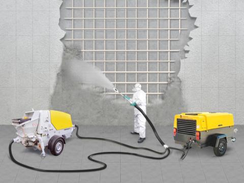 Торкретное нанесение бетона