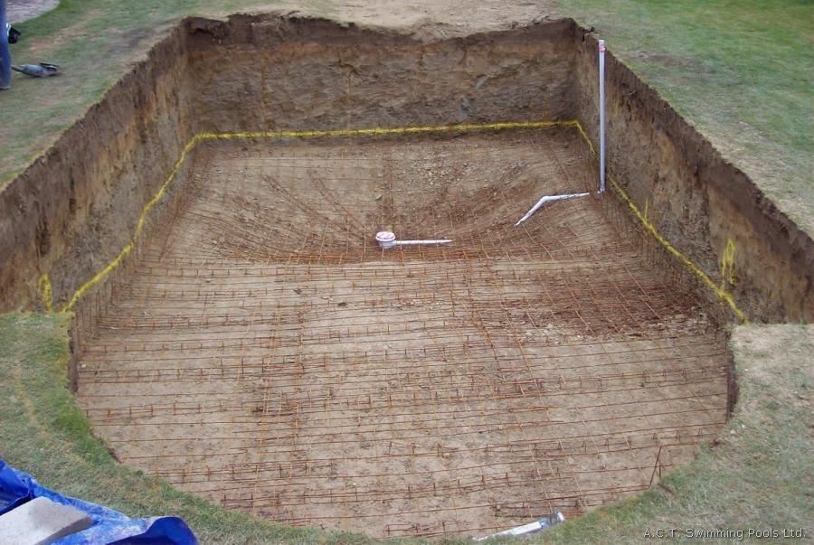 Круглый бассейн из бетона своими руками 93
