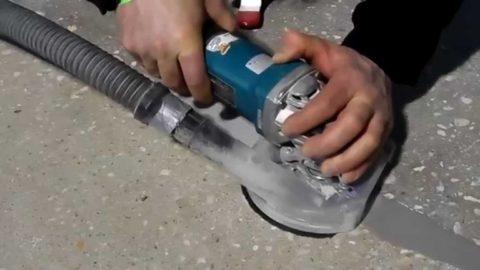 Зачистка заделанной трещины