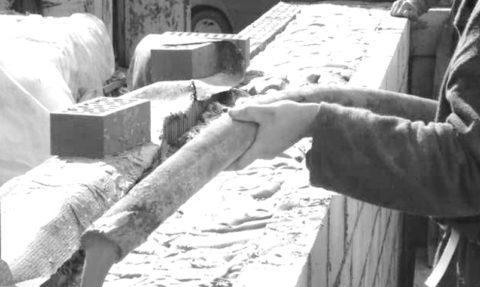 Заливка пенобетона в готовую несъемную опалубку из кирпича и блоков