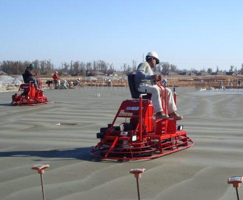 Затирка бетона вертолетом