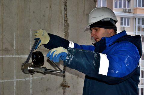 Испытание бетона отрывом диска