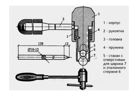 Конструкция молотка Кашкарова