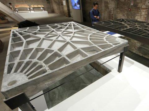 Нафото представлено бетонная иоблегченная части перекрытия