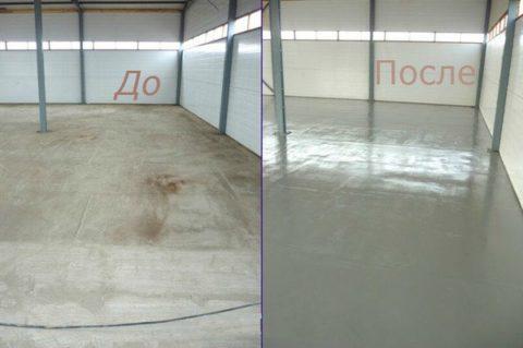 Окрашивание бетонного пола не только укрепит поверхность, но и улучшит внешний вид помещения