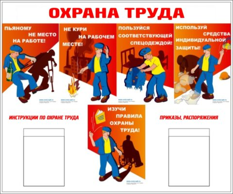 Правила внутреннего трудового распорядка иохрана труда наодном плакате