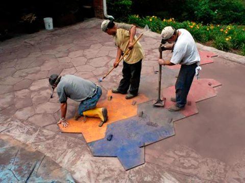 Штампуем бетон