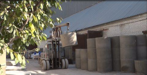Складирование бетонных колец