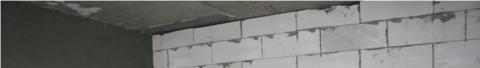 Верхний узел примыкания перегородки к потолку