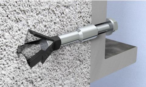 Забивной усиленный анкер для ячеистого бетона