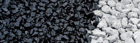 Черный, обработанный щебень