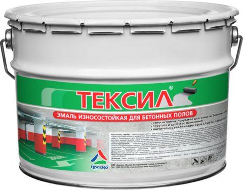 Эмаль «Тексил» для бетонных полов