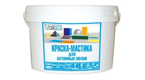 Эмаль «вакса» для бетонных полов