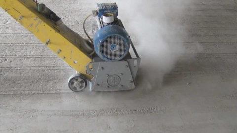 Фрезерование бетонного пола