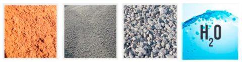 Компоненты раствора подбетонки стандартные, ноихпропорции врастворе отличаются оттоварного бетона