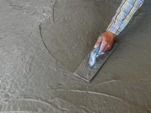 Мокрое железнение бетона