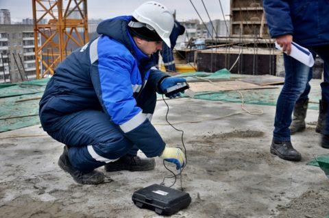 Определение прочности бетона неразрушающим способом